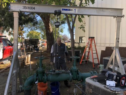 Demo backflow Public Storage San Mateo
